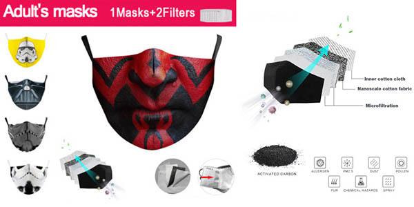 mascarillas de tela para adultos con diseños de Star Wars chollo