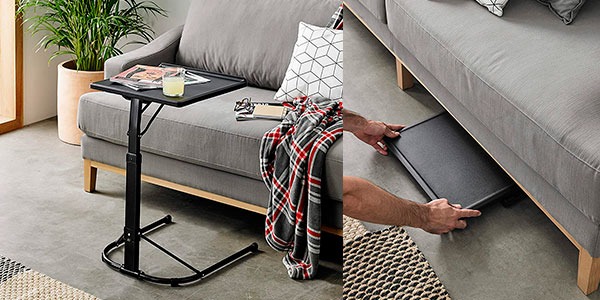 Mesa auxiliar plegable Kithome con altura ajustable barata