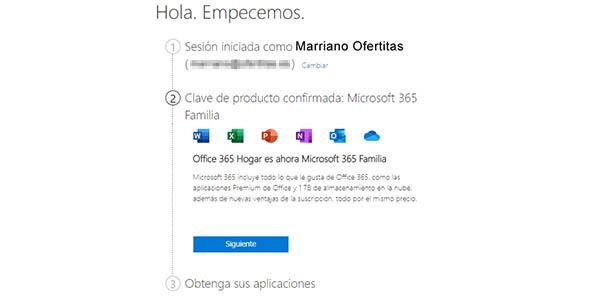 Configurar Microsoft 365 Familia para 6 personas