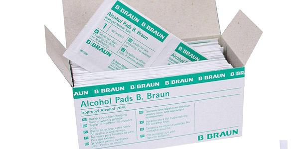 Pack x100 Almohadillas de alcohol B Braun baratas en Amazon