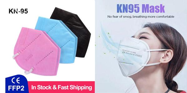 Pack x100 Mascarillas KN95 en varios colores barato en AliExpress