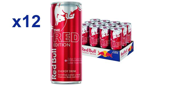 Pack x12 Red Bull The Red Edition frutos rojos bebida energética de 250 ml/ud barato en Amazon