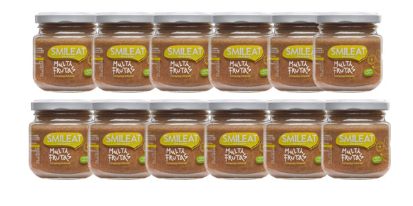 Pack x12 Smileat tarrito multifrutas infantil ecológico de 130 gr/ud barato en Amazon