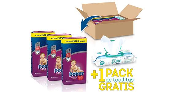 Pack x156 Pañales Braguita Dodot Activity Pants Talla 3 (6-11 kg) + 1 Pack 48 Toallitas para bebé barato en Amazon
