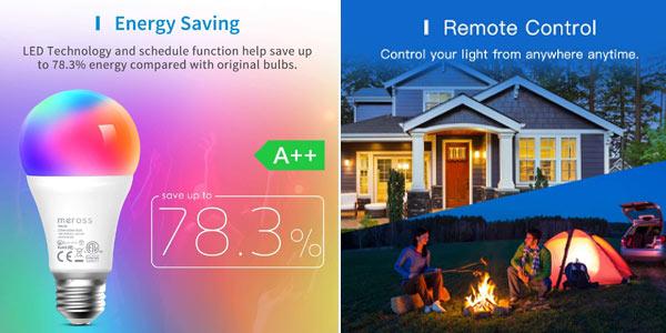 Pack x2 Bombillas LED Wifi Meross oferta en Amazon