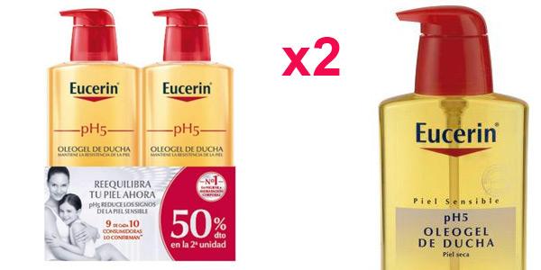 Pack x2 Oleogel de ducha pH5 Eucerin de 400 ml/ud barato en Amazon