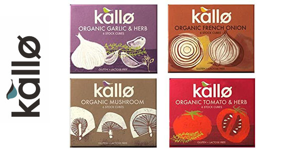 Pack x24 Cubos de caldo concentrado orgánicos y veganos Kallo Foods de verduras barato en Amazon