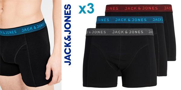 Pack x3 Boxers Jack & Jones Unicolor para hombre baratos en Amazon