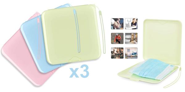 Pack x3 cajas de almacenamiento de mascarilla Mofajiang con cupón descuento baratas en Amazon