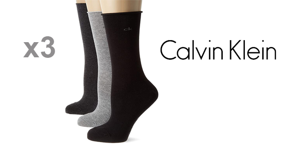 Pack x3 Calcetines Calvin Klein para Mujer baratos en Amazon
