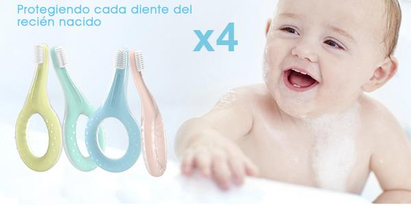 Pack x4 Cepillo de Dientes Bebé Eccomum Suave barato en Amazon