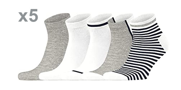 Pack x5 Pares de calcetines Esprit Stripe para hombre baratos en Amazon