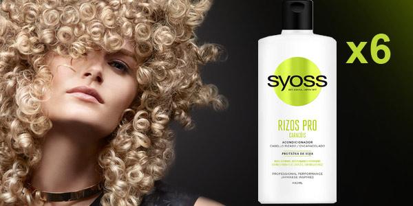 Pack x6 Acondicionador Rizos Syoss Pro de 440 ml/ud barato en Amazon