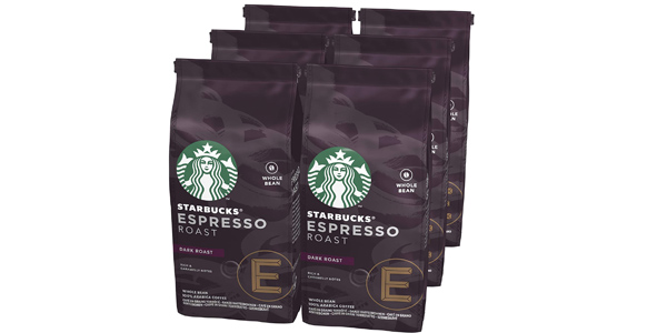 Pack x6 bolsas Starbucks Café de grano entero de 200g de varios tuestes chollo en Amazon