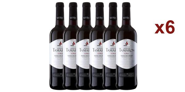 Pack x6 botellas Altos de Tamaron Ribera del Duero Roble Vino Pinto de 750 ml chollo en Amazon