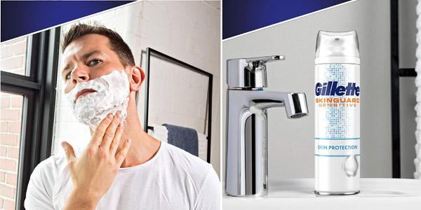Pack x6 Gillette SkinGuard espuma de afeitar para piel sensible de 250 ml chollo en Amazon