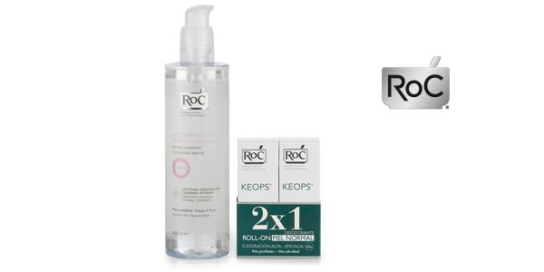 Pack Ahorro Roc Desodorante Keops Roll-On Pieles Normales Duplo (x2) + Agua Micelar 400 ml barato en Amazon