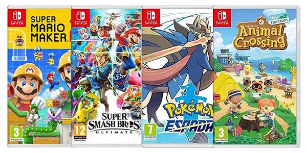 Packs de 3 juegos para Nintendo Switch al mejor precio