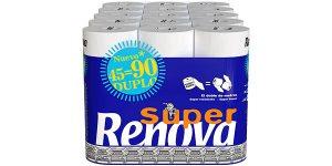Paquete x45 Rollos Papel Higiénico Renova Super Duplo