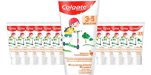 pasta de dientes infantil Colgate para niños de 3 a 5 años con función anticaries pack ahorro