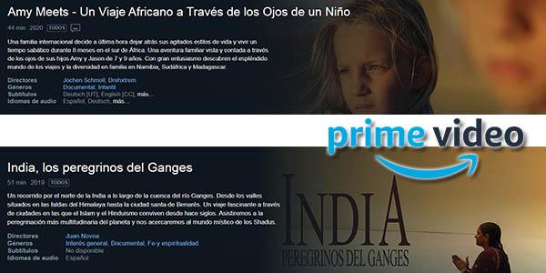 películas y series de viajes gratis en Amazon Prime Video