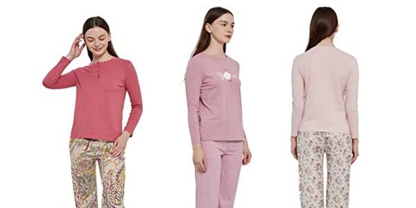 Pijama de algodón para mujer PimpamTex chollo en Amazon