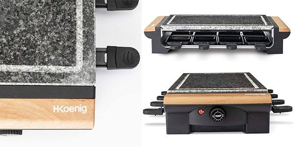 Plancha de piedra y Raclette H.Koenig RP328 para 8 personas barata