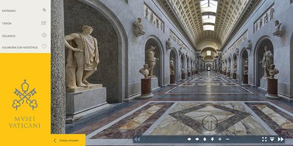 recorrido virtual por los Museos Vaticanos y la Capilla Sixtina