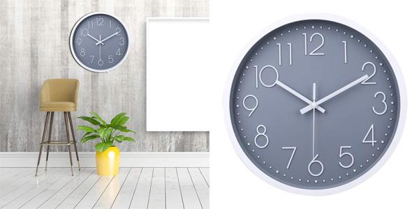 Reloj de pared decorativo Jomparis moderno y silencioso (sin tic-tac) barato en Amazon