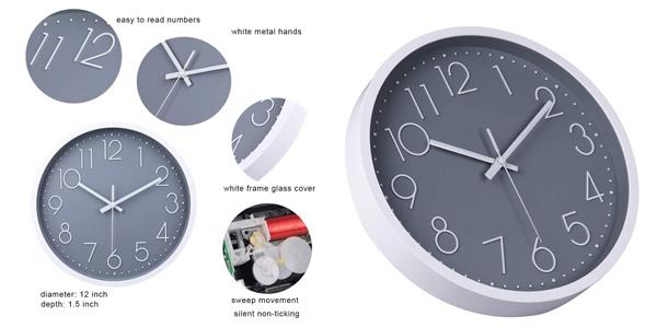 Reloj de pared decorativo Jomparis moderno y silencioso (sin tic-tac) oferta en Amazon