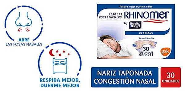 Rhinomer Breathe Right tiras nasales baratas