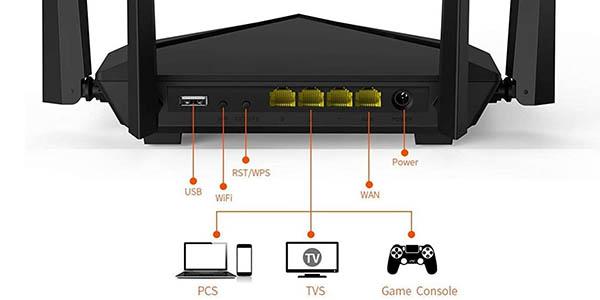 Router WiFi Tenda AC10U Gigabit de doble banda