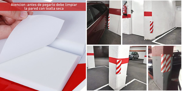 Set x2 paragolpes adhesivos Rovtop para columna de parking chollo en Amazon