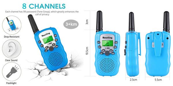 Set x2 Walkie Talkie Nestling para niños chollo en Amazon