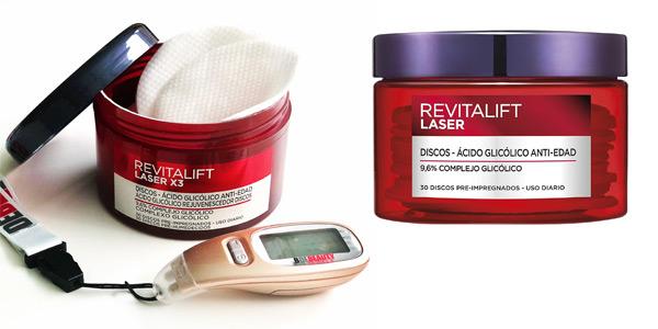 Set x30 Discos Ácido Glicólico L'Oréal Paris Revitalift Láser Peeling Anti-manchas barato en Amazon