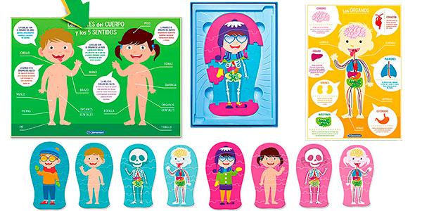 Set de 8 Puzles infantiles El cuerpo humano barato