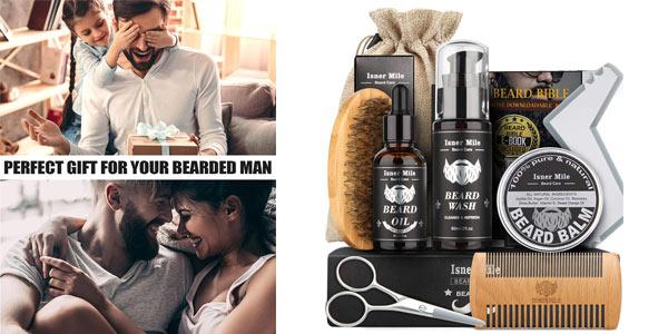 Kit cuidado de barba Isner Mile barato en Amazon