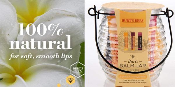 Set de regalo tarro Burt's Bees con 3 bálsamos labiales barato en Amazon