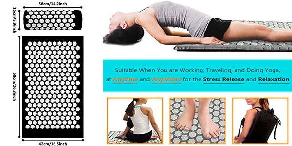 Set Tapusen de esterilla y almohada de acupuntura para yoga barato