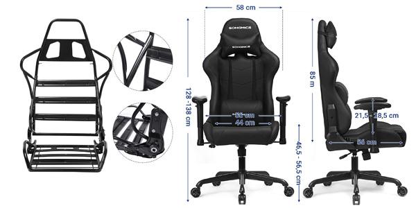 Silla Gaming Songmics con asiento extra ancho y respaldo alto chollo en Amazon