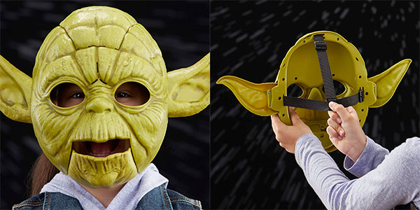 Máscara electrónica de Yoda de Star Wars con movimiento y sonido barata