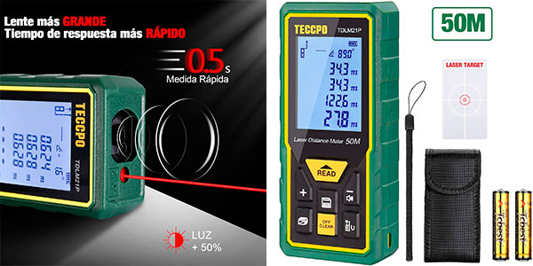 Telémetro láser Teccpo de 50 m barato