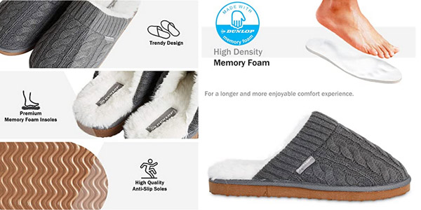 Zapatillas de casa Dunlop para hombre oferta en Amazon