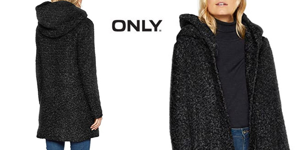 Abrigo de lana Only Onlsedona Boucle Wool Coat para mujer chollo en Amazon