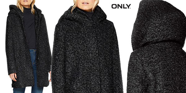 Abrigo de lana Only Onlsedona Boucle Wool Coat para mujer barato en Amazon