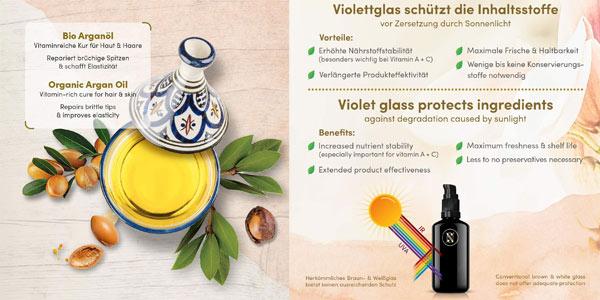 Aceite de Argán Orgánico Satin Naturel Certificado Vegano de 100ml oferta en Amazon