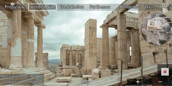 Acrópolis de Atenas tour virtual gratuito