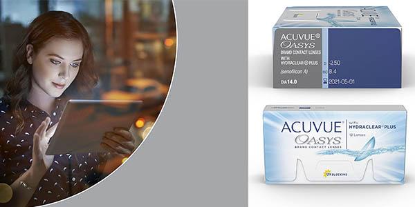 Acuvue Oasys with Hydraclear Plus lentillas quincenales para la fatiga visual oferta