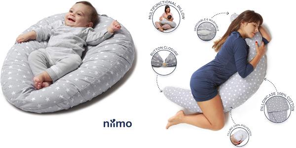 Almohada evolutiva de embarazo y cojin para bebé y lactancia Niivetto barata en Amazon