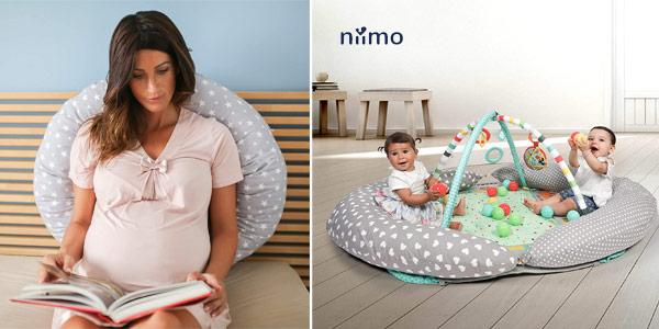 Almohada evolutiva de embarazo y cojin para bebé y lactancia Niivetto chollo en Amazon